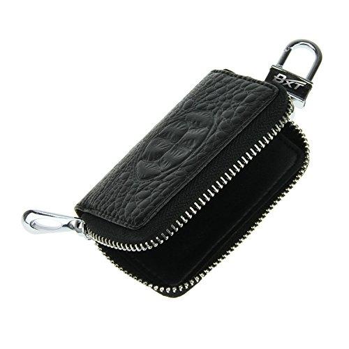 Schlüsseltasche Autoschlüsseltasche Schlüsseletui mit Kroko Design Handarbeit Schlüsselmäppchen Schlüsselbörse Car Key Case Brieftasche für Damen Herren