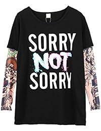 YiJee Niños Tatuaje Blusas de Manga Larga Otoño e Invierno Casual Camisetas