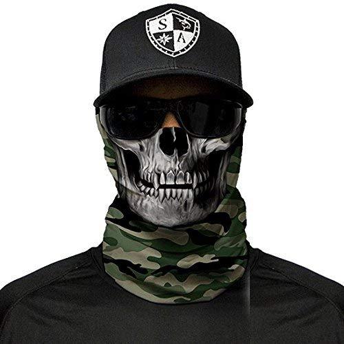 SA Fishing Company Face Shield Sturmhaube (Green Military Camo Skull)