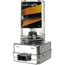 Faro de xenon - SODIAL(R) 2x 35W HID bombilla de lampara de faro de recambio de xenon D1S/D1C 35W/12000K