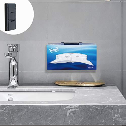 TFY Taschentuch-Wandhalter, Küchenwandhalter, kompatibel mit Kleenex Gesichtstüchern und Anderen Servietten-Papierboxen, Schwarz
