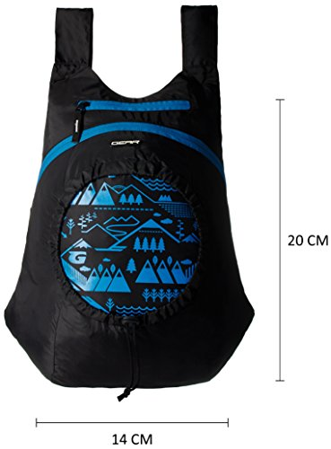 GEAR Black and Blue Kids Backpack (3-5 years previous) Image 2