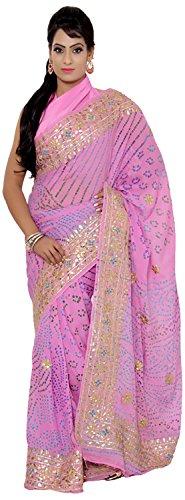 Vibhuti Sarees Women's Crepe Saree With Blouse Piece (VBS065