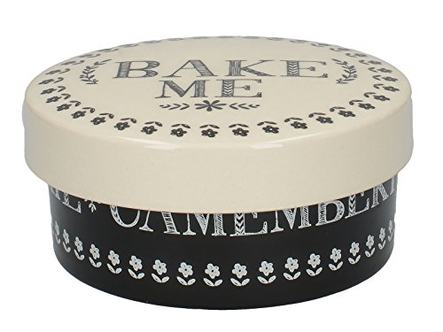 Creative tops stir it up cheese baker, ceramica, nero/bianco, 38.1x 38.1x 43.18cm