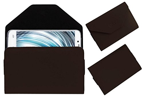 Acm Premium Pouch Case For Lava Xolo A1000 Flip Flap Cover Holder Brown  available at amazon for Rs.179