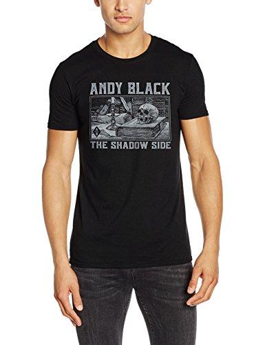 CID Herren T-Shirts Andy Black-Black Death Schwarz