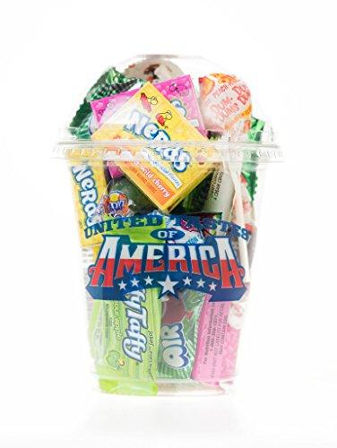 Vereinigte Tastes of America- USA Klassik Cup voll von spannenden amerikanischen Süßigkeiten! Ein einzigartiges Geschenk