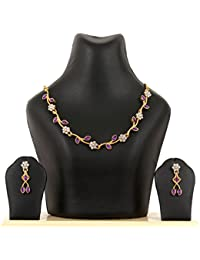 Kpax Fashions Golden Color Alloy Necklace Set For Women,KPX43