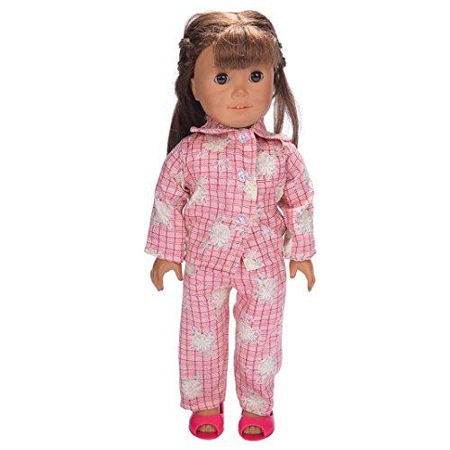 Nette Pyjamas Nightgown Kleidung für 18 Zoll unsere Generation American Girl Puppe Kleidung (Puppen nicht im Lieferumfang enthalten) (E)