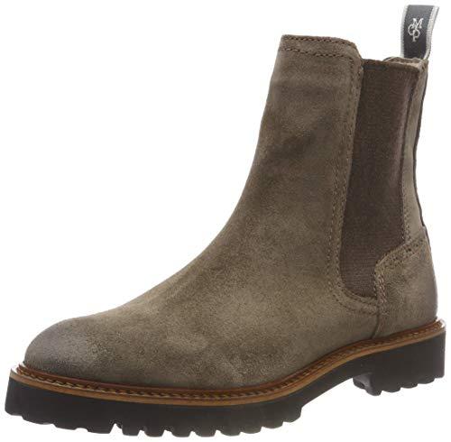 Marc O'Polo Damen Flat Heel Chelsea Boots, Grau (Taupe 717), 40.5 EU