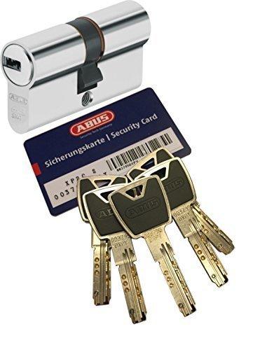 ABUS XP20S Doppelzylinder Länge (a/b) 30/35mm (c=65mm) mit Sicherungskarte und 5 Schlüssel mit Design-Clip, Not-u. Gefahrenfunktion und SKG** Bohrschutz