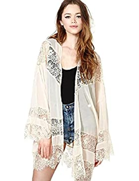 Culater® Las Mujeres Atan Empalme Tapas Capa De La Chaqueta Kimono Cardigan (L)