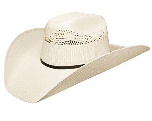 Resistol Mens 7X Ringer Straw Cowboy Hat X-Small Natural -
