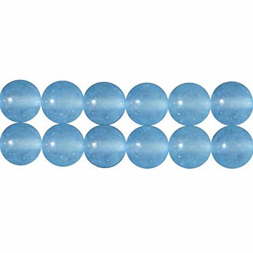 Perlen für Schmuckherstellung 8mm Aqua Blau Chalcedon Perlen 38cm Strang Approx 46 Stück