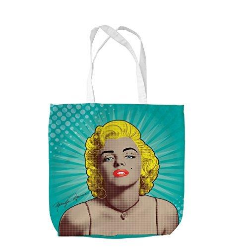 Lichtenstein Marilyn Monroe Design Tasche Einkaufstasche Beach Schule Zubehör L & S Prints