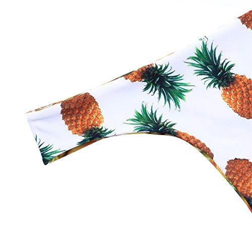 JOTHIN Damen Ananas Druck Bikini-set Neck-holder Badeanzug Mädchen Bandeau Zweiteilig Gelb