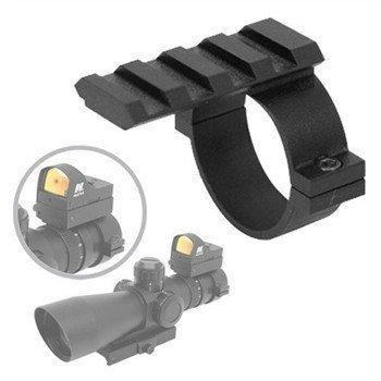 ADE Advanced Optics 2,5cm Scope Ring Adapter mit Picatinny/Weaver/Universal-Schiene
