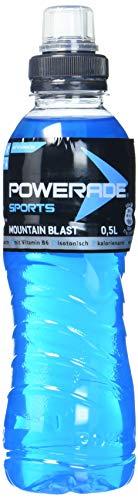 Powerade Sports Mountain Blast/Iso Drink mit Elektrolyten - als erfrischendes, kalorienarmes Sportgetränk oder als Power Drink für zwischendurch / 12 x 500 ml Einweg Flasche