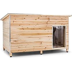 oneConcept Schloss Wuff caseta para perro tamaño XL (medidas 110x160x100 cm, paredes con aislante, cantos protegidos, protección para mascotas)