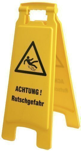 "Hinweisschild ""Achtung Rutschgefahr"" Warnschild Aufsteller - NEU (308537)"