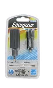 Energizer LCHEH32UEUBM2 Chargeur 3-en-1 pour BlackBerry/HTC/Motorola Noir