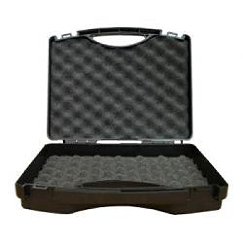 W-Tec Systems Kunststoffkoffer schwarz/silbergrau inkl. Noppenschaumeinlage