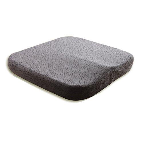 Coussin de siège en mousse visco-élastique orthopédique pour coccyx sciatique Coussin de siège de voiture Coussin d'assise pour fauteuil roulant Chaise de bureau Coussin d'assise souple mousse à mémoire de forme pour le bas du dos coccyx coccyx hémorroïdes pelvien douleurs Confort souple Coussin de siège en mousse Coussin pour chaise de bureau Home C, gris, 40*40*5.5 cm
