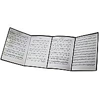 MOREYES Carpeta de música para hojas de música desplegable cuando se juega instrumento, negro