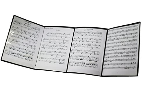 MOREYES cartella porta spartiti musicali da aprire mentre si suona Nero