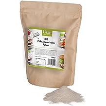 Bio Flohsamenschalenmehl von Lizza: Glutenfrei, Low Carb, Vegan, viele Proteine, Ballaststoffe und Omega-3. Für gesunde Ernährung (1x 1000g)