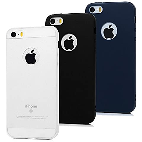 3x Cover iPhone 5s Silicone, Cover iPhone 5 / SE