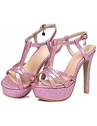Meine Damen Sandalen, die transparente Frauen Schuhe, Sommer Fisch, Mund mit Süßigkeiten, Damen Sandalen, Pink, 36
