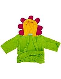 Essuie à capuche pour bébé de Lexikind   Poncho douillet Manteau de bain en microfibres tissu éponge   Essuie de bain amusant à capuche   Peignoir de bain