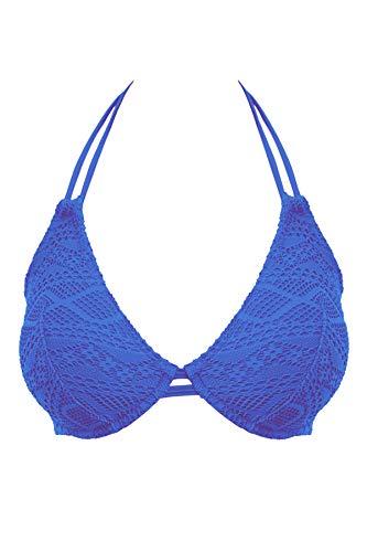 Freya Sundance Underwire Bandless Halter Bikini Top in Cobalt (AS3971) *Sizes C-FF* -