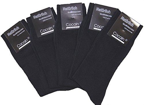 cocain 10 Paar Herren Socken, schwarze Anzugssocke, 100% Baumwolle, Marke, Markenware Gr. 43/46 -