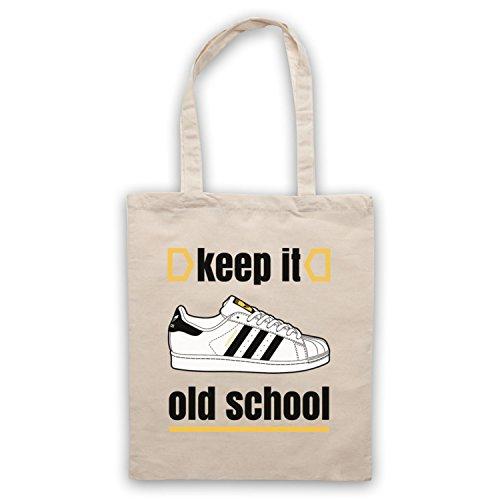 Keep It Old School Retro Superstar Slogan Umhangetaschen Naturlich