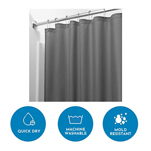 InterDesign Schimmelresistenter Wasserabweisender Stoff-Duschvorhang - 2