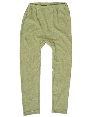 Cosilana, Kinder Leggings/Lange Unterhose, 45% KBA Baumwolle, 35% kbT Wolle, 20% Seide (104, Grün Meliert)