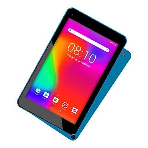 "WOXTER X-70 - Tablet Android, 7"" HD, CPU Mediatek Quad Core Cortex A35, 1.3 GHz, Micro HDMI, Android 8.1, Bluetooth, Wi-FI, 8Gb + Micro-SD, OTG, Blue"