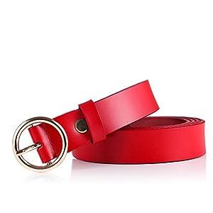 las mejores paginas web diseñadas: FANG1106 - Cinturón para Mujer, Estilo Vintage, Casual, de Piel auténtica, con H...