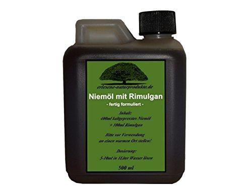 Niemöl mit Rimulgan (Emulgator) 500ml / Niem Neem ***FERTIG GEMISCHT***von erlesene-naturprodukte.de (Die Erhaltung Gesunden Einer)