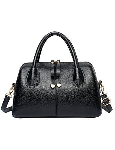Menschwear Leather Tote Bag lucida PU nuove signore borsa a tracolla Vino Rosso Nero