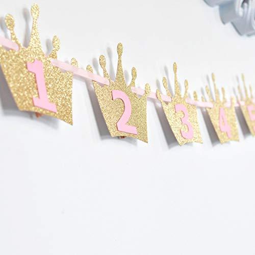y Banner für Neugeborene zum ersten Geburtstag Feier Dekoration (Gold) ()