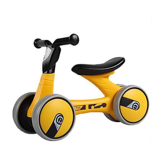TCBIKE Kinderlaufrad, Robust Walker Bike Mini Fahrrad Safe Spielzeug-fahrten Ideal für 10-36 Monaten kein Pedal säugling 4 räder Kleinkind als erstes Fahrrad-D 55x16x28cm(22x6x11inch)