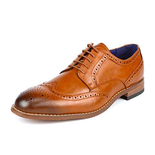 Bruno Marc William_2 Zapatos de Cordones Vestir Oxford para Homble Camello 41 EU/8 US