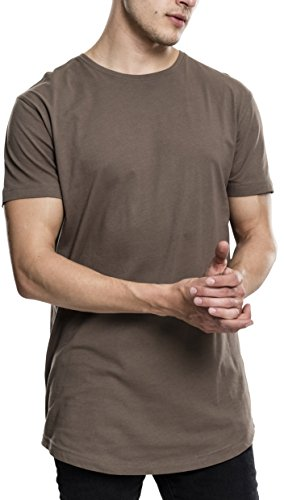 Green T-shirt Tee (Urban Classics Herren Regular Fit T-Shirt Shaped Long Tee, Grün (Army Green 1144), X-Small)