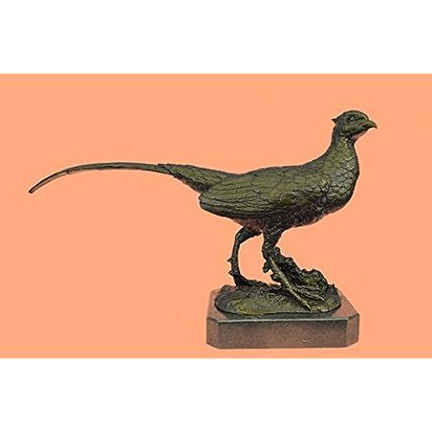 Escultura bronce estatua...Envío gratis...Faisán Ortega juego Bird Hunter mármol trofeo de la fauna(YRD-818-EU)Estatuas estatuilla estatuillas desnuda Oficina y Decoración del hogar Coleccionables
