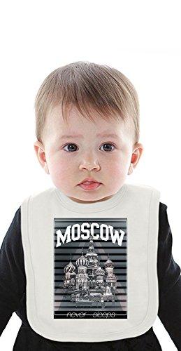 Moscow Red Square Organic Bib With Ties Medium