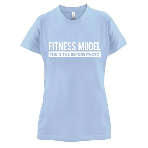 Fitness Model Before Photo - Damen T-Shirt - 14 Farben Himmelblau