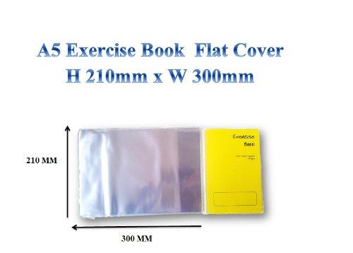 Schulbuch-Plastikhüllen, A5, H 210°mm x B 148°mm, durchsichtig, wiederverwendbar, 3 Stück eigentliche Größe der Hülle beträgt 210 x 300 flach